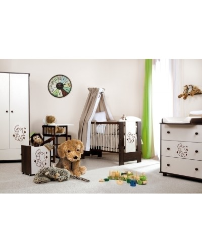 Mobilier Copii Si Bebelusi KLUPS TEDDY WITH STARS Wenge