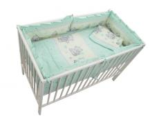 Lenjerie MyKids Teddy Toys Turquoise 4+1 Piese M2 140x70