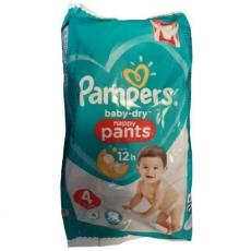 Pampers Baby-Dry Nappy Pants - scutece chilotel nr 4 (9-15kg) 4 buc x 18 pachete (72 scutece)