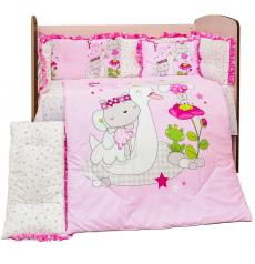 Lenjerie PUFINAS cu 6 piese 60/120 Bumbac 100% MAGICAL WORLD - Roz